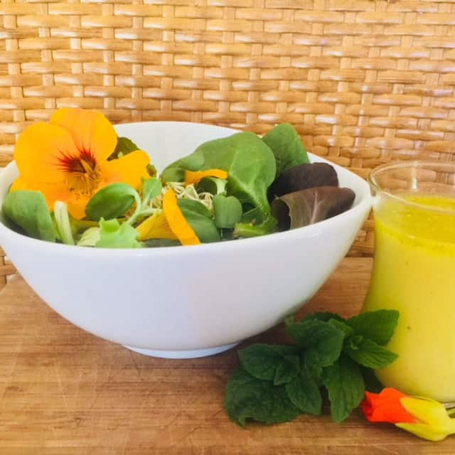 Spring Dressing and Fresh Greens