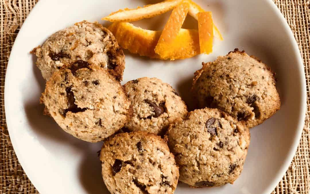 Orange Almond Cacao Cookies