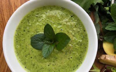Coconut Curry Spring Green Soup